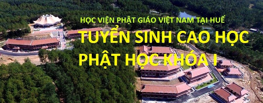 Học viện PGVN tại Huế tuyển sinh Cao học Phật học khóa I
