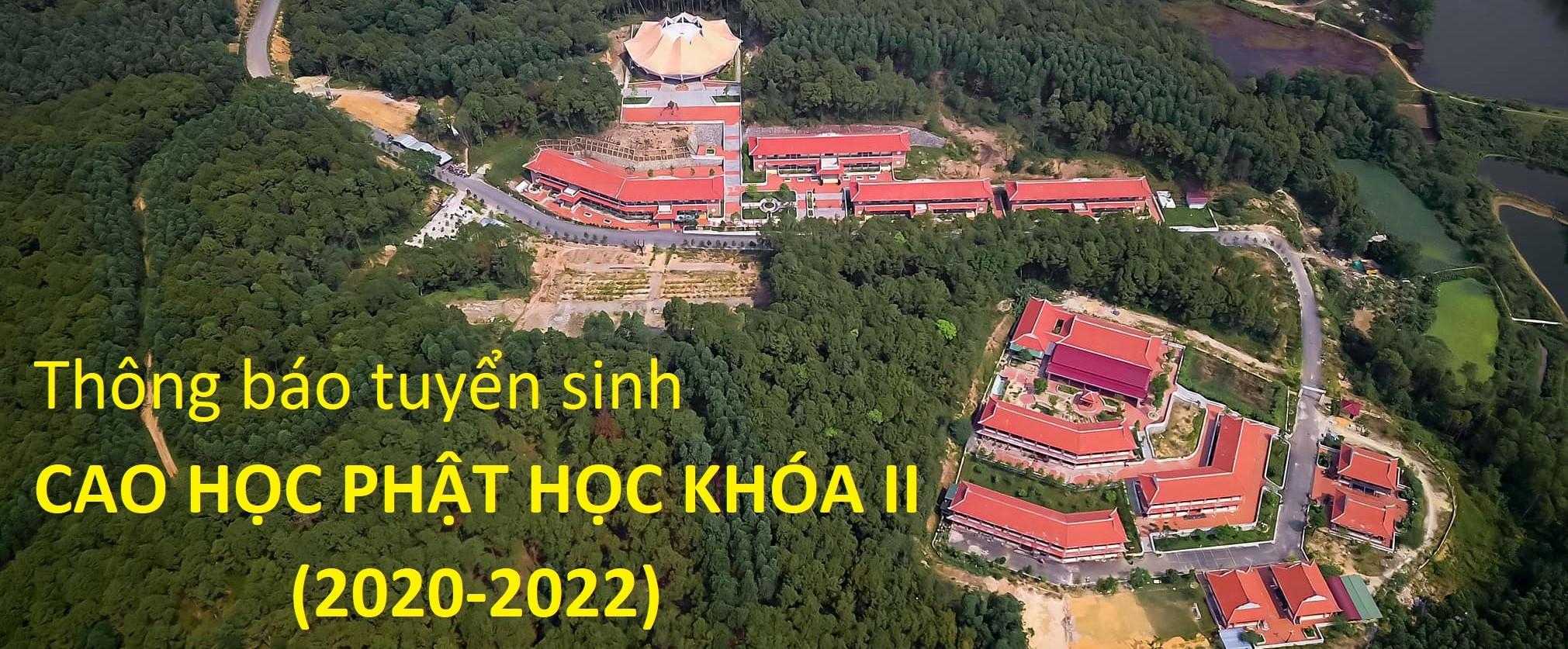 Thông báo tuyển sinh Cao học Phật học khóa II (2020-2022)