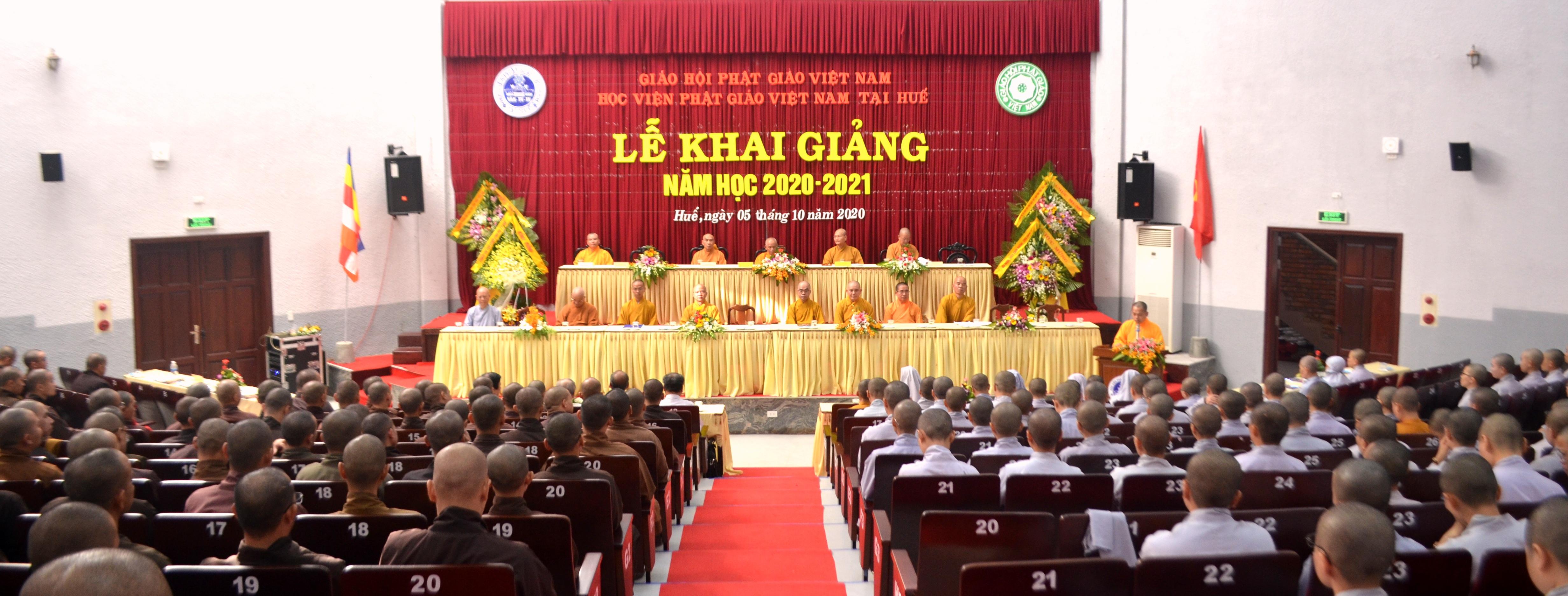 Học viện Phật giáo Việt Nam tại Huế tổ chức khai giảng năm học 2020-2021