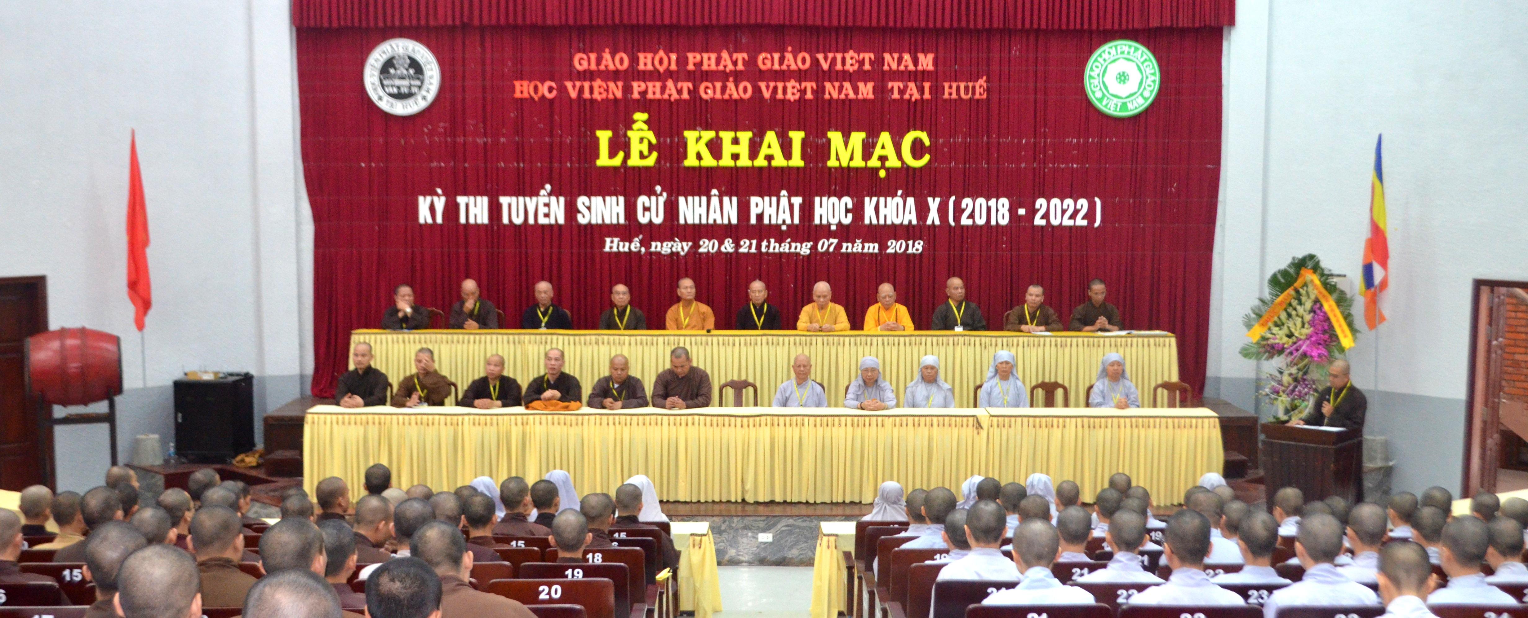 Học viện PGVN tại Huế tổ chức kỳ thi Tuyển sinh Cử nhân Phật học khóa X