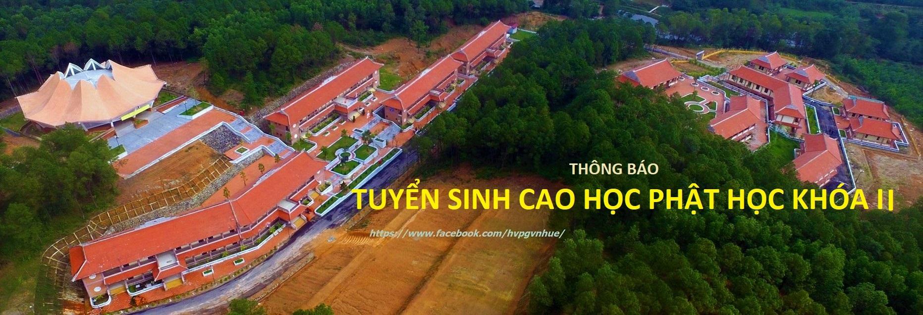 Học viện PGVN tại Huế tuyển sinh Thạc sĩ Phật học khóa II (2021-2023)