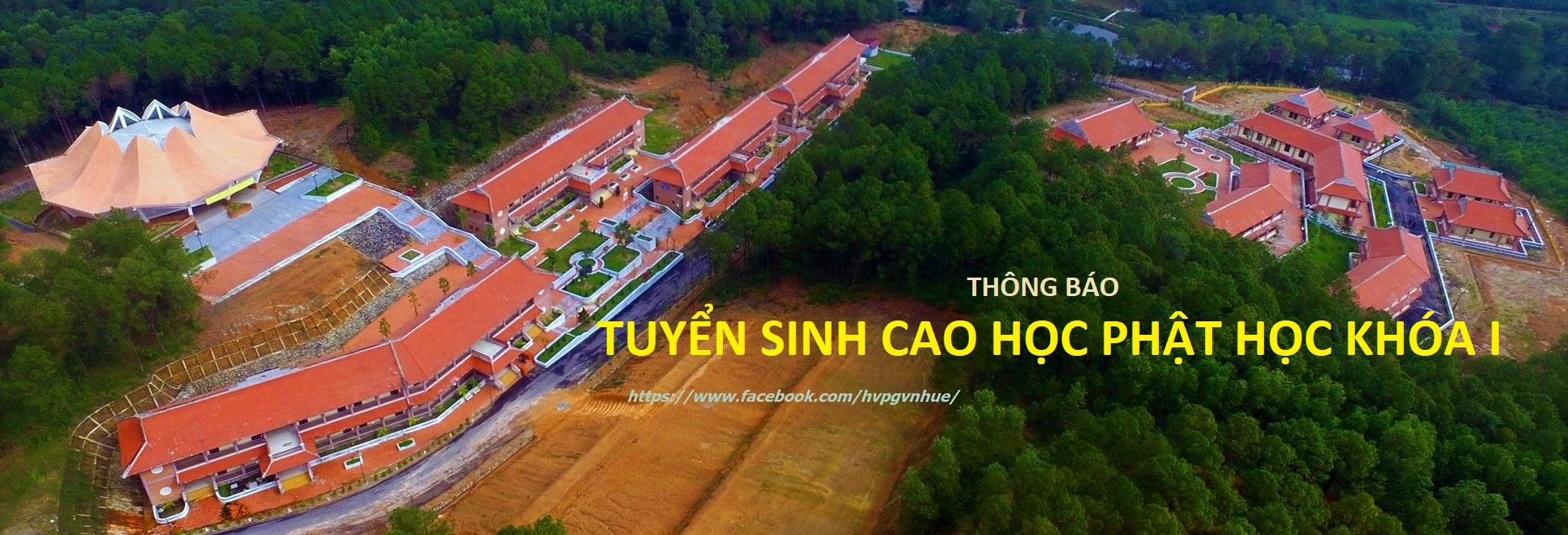 Thông báo tuyển sinh Cao học Phật học khóa I (đợt 2)