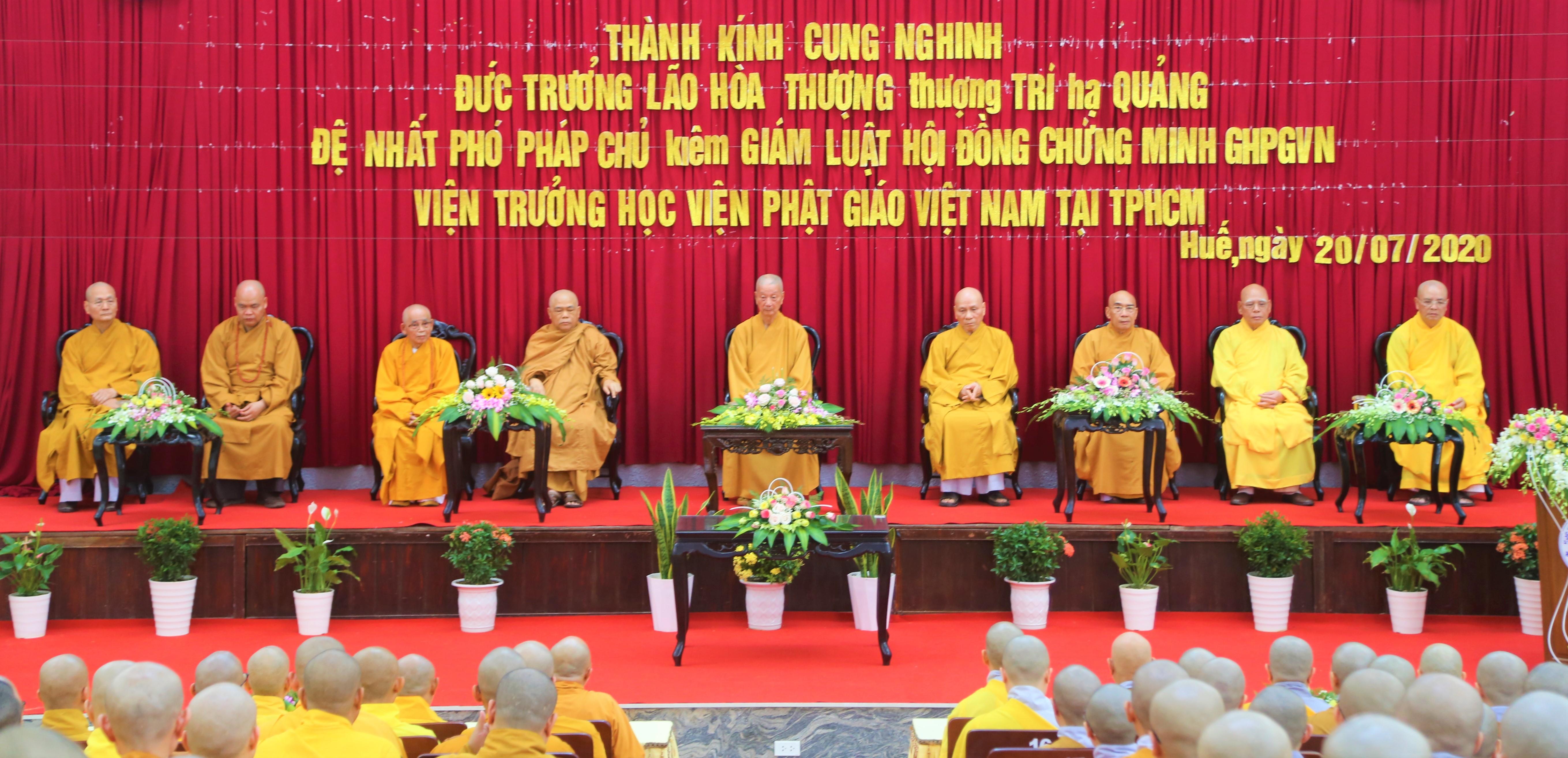 Trưởng lão HT.Thích Trí Quảng thăm Học viện PGVN tại Huế
