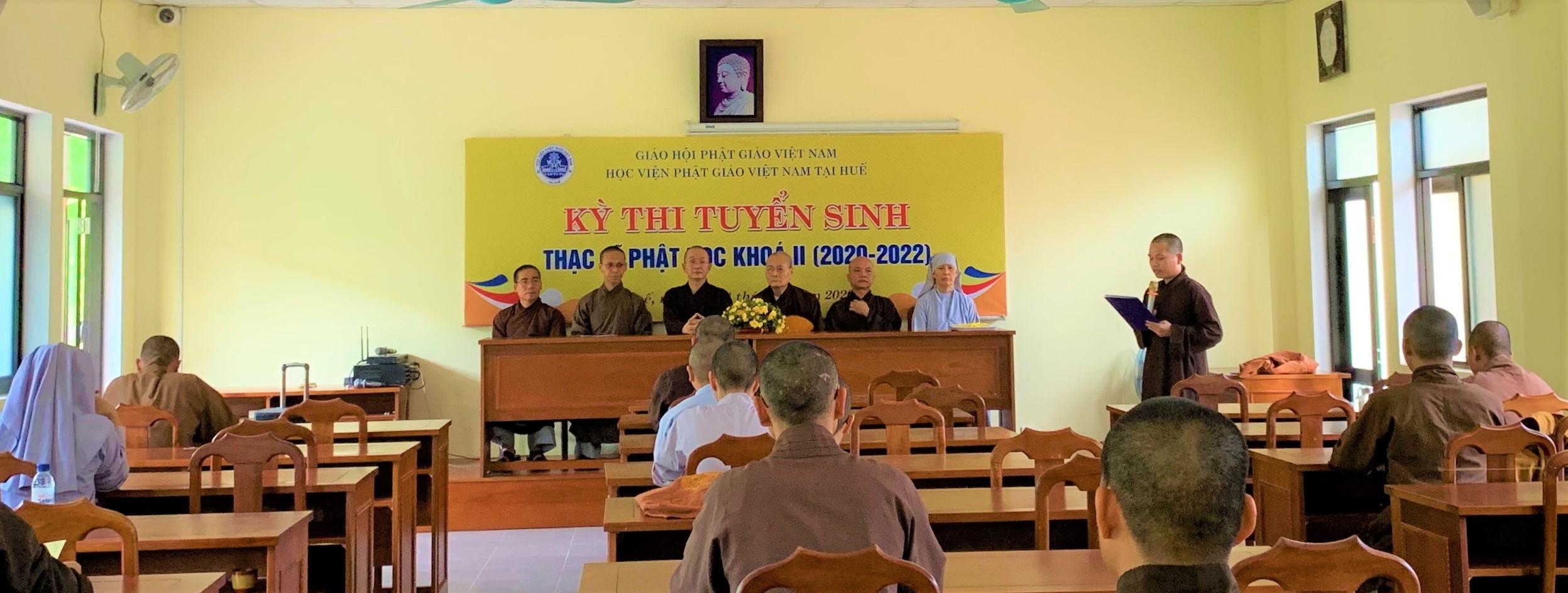Học viện PGVN tại Huế tổ chức thi tuyển sinh Thạc sĩ Phật học khoá II